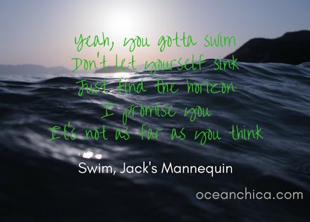 you gotta swim